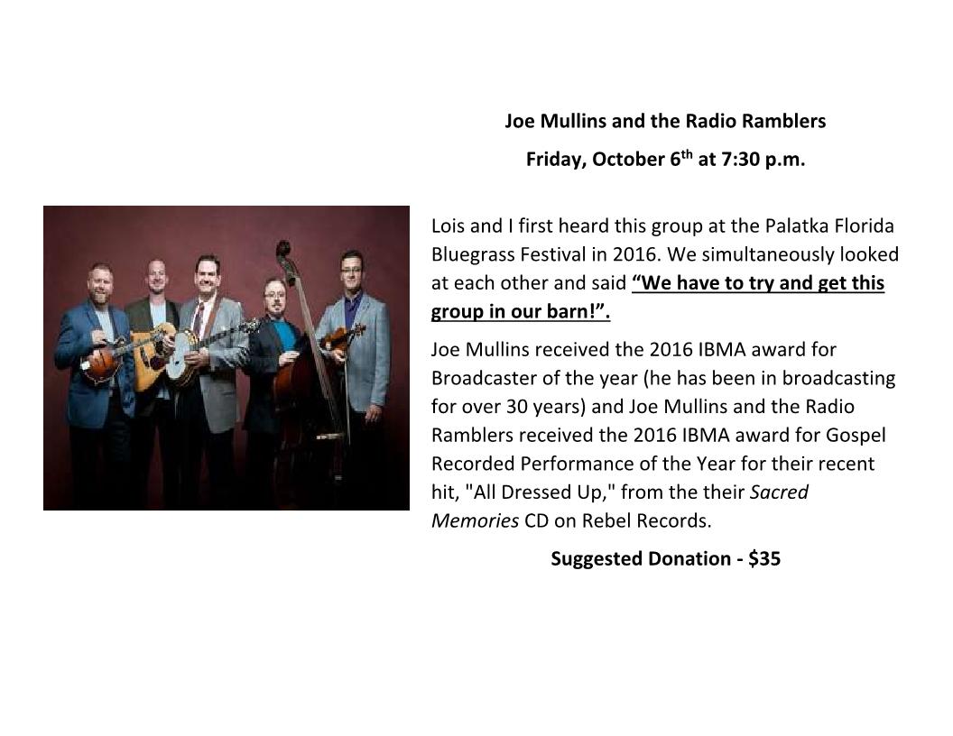 Joe Mullins 6 Oct 2017